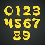 Concepto de números a partir de la 0 a 9 Foto de archivo libre de regalías