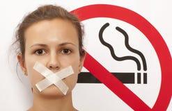 Concepto de no fumadores Imagen de archivo libre de regalías