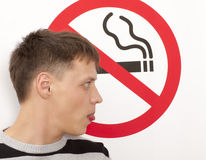 Concepto de no fumadores Fotografía de archivo