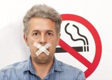Concepto de no fumadores Imagen de archivo
