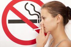 Concepto de no fumadores Fotografía de archivo libre de regalías