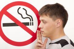 Concepto de no fumadores Imagenes de archivo