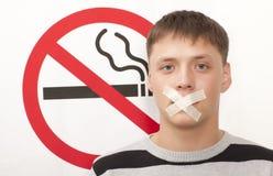 Concepto de no fumadores Foto de archivo libre de regalías