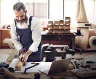 Concepto de Occupation Craftsmanship Carpentry de la manitas Imágenes de archivo libres de regalías
