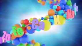 Concepto de organismo sano con las vitaminas coloridas libre illustration