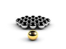 Concepto de oro de la dirección de la esfera ilustración del vector