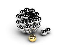 Concepto de oro de la dirección de la esfera Imágenes de archivo libres de regalías