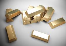 Concepto de oro de las barras Fotos de archivo