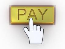 Concepto de oro del pago electrónico Fotografía de archivo libre de regalías