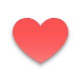 Concepto de papel del corazón Foto de archivo libre de regalías