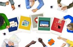 Concepto de papel polaroid de los medios de la fotografía de la cámara instantánea Imagen de archivo libre de regalías