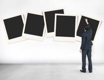 Concepto de papel polaroid de los medios de la fotografía de la cámara instantánea Fotografía de archivo