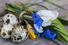 Concepto de Pascua y de la primavera Imagen de archivo libre de regalías