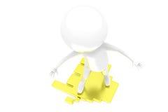concepto de pedazo del rompecabezas del hombre 3d Imagen de archivo libre de regalías