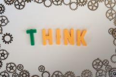Concepto de pensamiento Imágenes de archivo libres de regalías