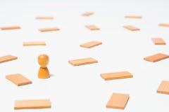 Concepto de pensamiento, la búsqueda para las soluciones, los juegos de mente Foto de archivo libre de regalías