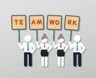 Concepto de pensamiento positivo del negocio del trabajo en equipo Imagen de archivo