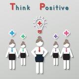 Concepto de pensamiento positivo del negocio del trabajo en equipo Imágenes de archivo libres de regalías
