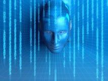 Concepto de persona virtual Imagen de archivo libre de regalías