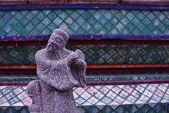 Concepto de piedra de la cultura de Asia del guerrero Foto de archivo