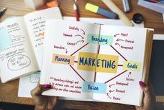 Concepto de planificación de marcado en caliente de comercialización de las metas de Vision imagen de archivo