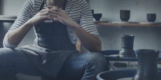 Concepto de Pottery Skill Workshop del artista del artesano Fotos de archivo libres de regalías