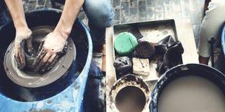 Concepto de Pottery Skill Workshop del artista del artesano Imagen de archivo