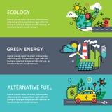 Concepto de problema de la ecología, de energía verde y de combustible alternativo ilustración del vector