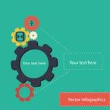 Concepto de proceso del infographics del vector Imagen de archivo libre de regalías