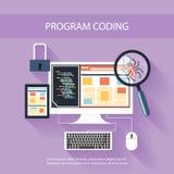 Concepto de programación ilustración del vector