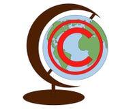 Concepto de protecci?n de los derechos reservados, propiedad intelectual bajo la forma de icono de los derechos reservados en el  stock de ilustración