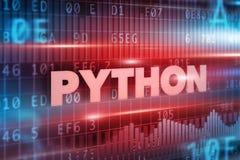 Concepto de Python Imagen de archivo libre de regalías