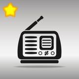 Concepto de radio negro del símbolo del logotipo del botón del icono de alta calidad Foto de archivo libre de regalías