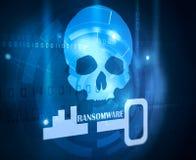 Concepto de Ransomware stock de ilustración