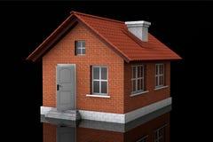 Concepto de Real Estate. casa 3d Foto de archivo libre de regalías