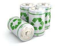 Concepto de reciclaje verde de la batería. Foto de archivo libre de regalías