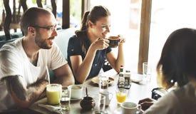 Concepto de reclinación de la frialdad de la relajación del restaurante del café del café imagen de archivo