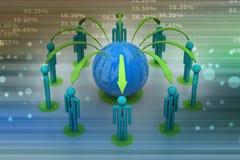 Concepto de red del negocio global stock de ilustración