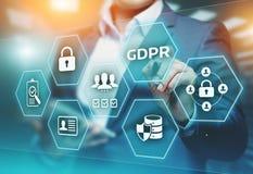 Concepto de regla de la tecnología de Internet del negocio de la protección de datos general de GDPR fotos de archivo