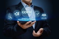 Concepto de regla de la tecnología de Internet del negocio de la protección de datos general de GDPR foto de archivo libre de regalías