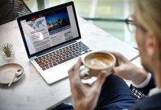 Concepto de Relax Coffee Break del hombre de negocios imágenes de archivo libres de regalías
