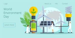 Concepto de reserva el planeta, energ?a de ahorro stock de ilustración