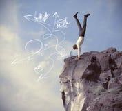 Riesgos y desafíos de la vida empresarial Fotografía de archivo libre de regalías