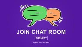 Concepto de sala de chat Imágenes de archivo libres de regalías