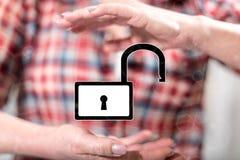 concepto de seguridad cibernética stock de ilustración
