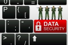 Concepto de seguridad de datos ilustración del vector