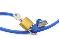 Concepto de seguridad del Internet Imagen de archivo
