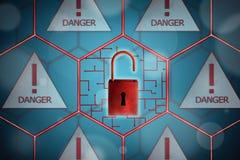 Concepto de seguridad de la red stock de ilustración