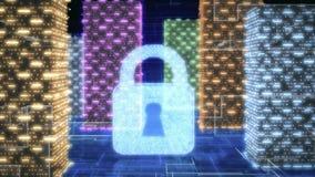 Concepto de seguridad de la red de ordenadores Imágenes de archivo libres de regalías