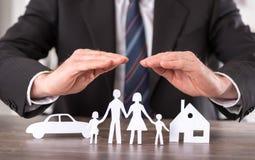 Concepto de seguro Fotografía de archivo libre de regalías